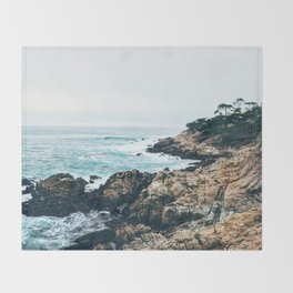 Standing on the Coast Throw Blanket