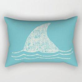 Beach Series Aqua - Shark Animal in the deep See Rectangular Pillow