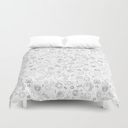 Outta Space white Duvet Cover