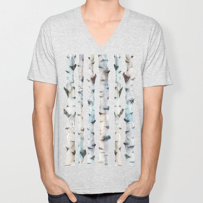 Birch Tree Unisex V-Neck