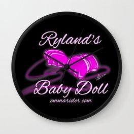 Ryland's Baby Doll Gloves Logo Wall Clock