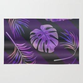 Purple palm leaves Rug