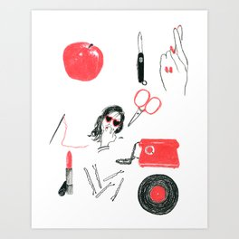 Red Color Theory Art Print