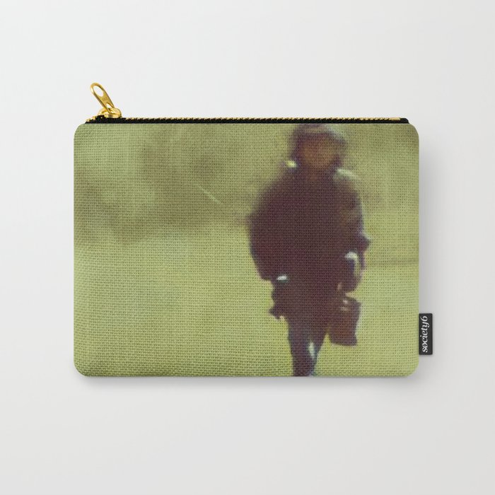 A young soldiers long lonely walk home by Brian Vegas Carry-All Pouch
