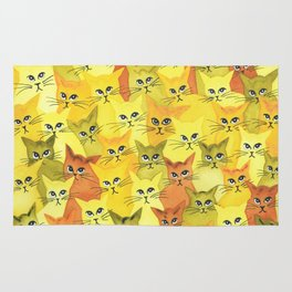 Yellowstone Whimsical Cats Rug