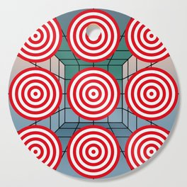 Shooting gallery with targets Cutting Board