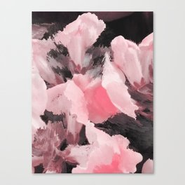 Light Pink Snapdragons Abstract Flowers Canvas Print