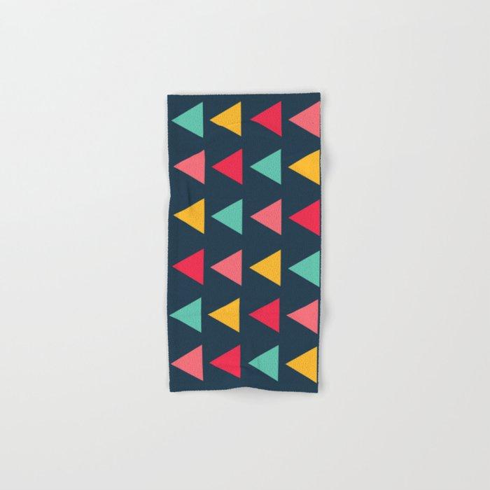 Arrow Pattern Colorful Geometric Hand Amp Bath Towel By