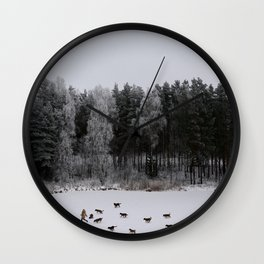 Winter's Tale Wall Clock