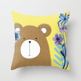 Flowers In My Hair Throw Pillow