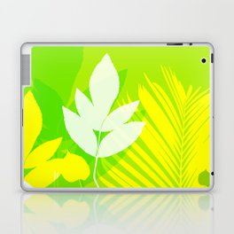 Jungle neon green Leaves Palm Yellow Laptop & iPad Skin