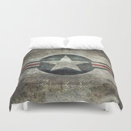 Stylized US Air force Roundel Duvet Cover