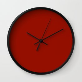 Cherry Red -Solid Color Collection Wall Clock