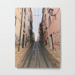 Lisbon Bica Funicular, Lisbon, Portugal Metal Print