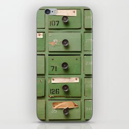Old wooden cabinet with drawers iPhone Skin