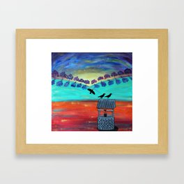 Crow's Well Framed Art Print