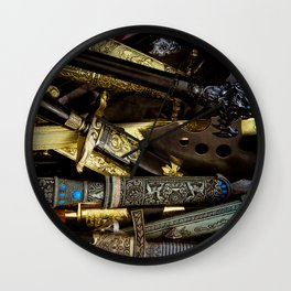 Collage - Daggers, Dirks and Sabres Wall Clock