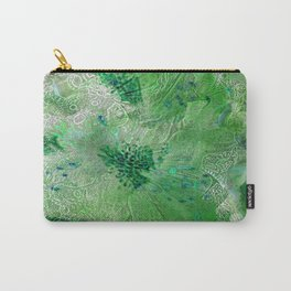 Green Lace Azalea Abstract  Carry-All Pouch