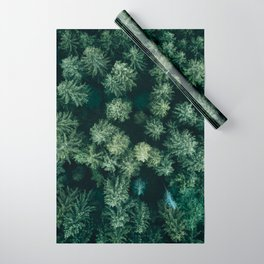 Forest from above - Landscape Photography Wrapping Paper