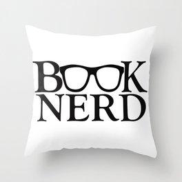 Book Nerd Throw Pillow