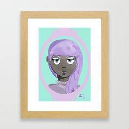 Pastel Vampire Woman Framed Art Print