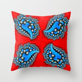 Fractal Quadrant Red I Throw Pillow