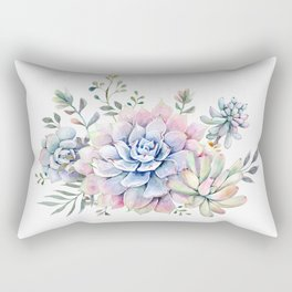 succulent watercolor 1 Rectangular Pillow