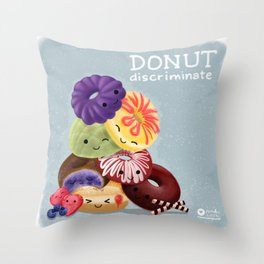 Donut Discriminate Throw Pillow