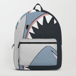 Veggie Shark / Poster, scandinavian, art, art print, drawings, paintings, sea, fish, shark, water Backpack