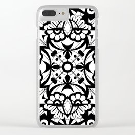 Laughing Faces Clear iPhone Case