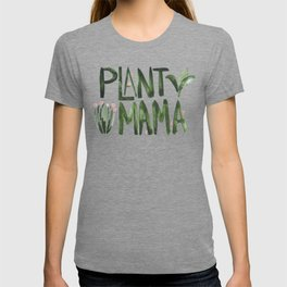 Plant Mama with Pink Flowers T-shirt