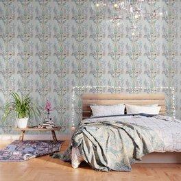 Santa Fe Garden – Turquoise & Brown Wallpaper