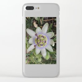 Passion Flower Blossom Clear iPhone Case