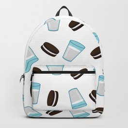 Oreo and milk pattern Backpack