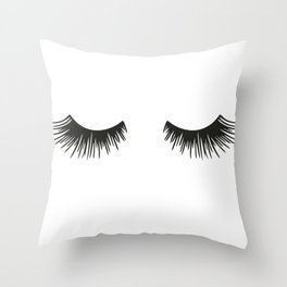 Closed Eyelashes Throw Pillow