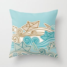 Beach fish sea Throw Pillow