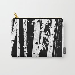 Black and White Birch Trees Fade Out Carry-All Pouch