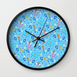 Sailor Mercury Pattern / Sailor Moon Wall Clock