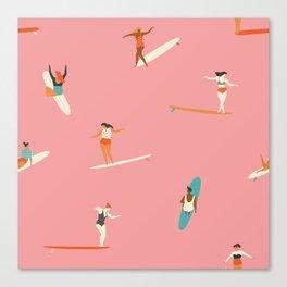 Surf sistas Canvas Print
