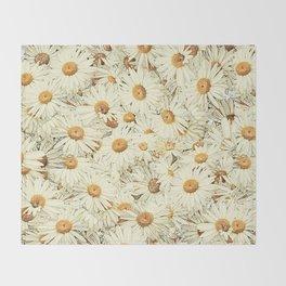 Daisies - Underfoot Throw Blanket