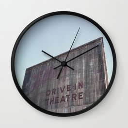 Drive-In Movie Theatre Wall Clock