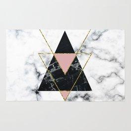 Geo glam marble Rug