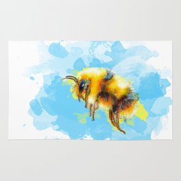 Bumble Away Bumble Bee - Insect Illustration Rug