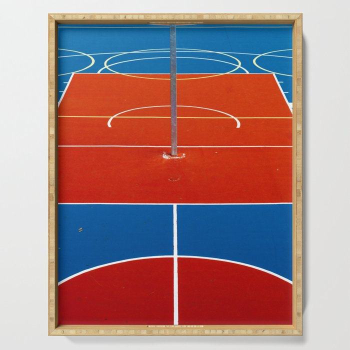 The Court in Red and Blue (Color) Serving Tray