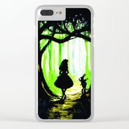 alice and rabbits Clear iPhone Case