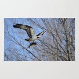 Osprey and Prey - Wildlife Photography Rug