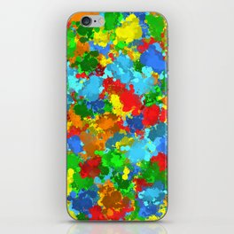 Multicolored splashes iPhone Skin