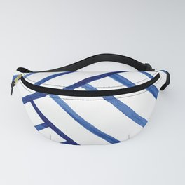 Watercolor lines pattern   Navy blue Fanny Pack