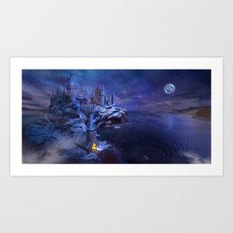 midnight castle Art Print