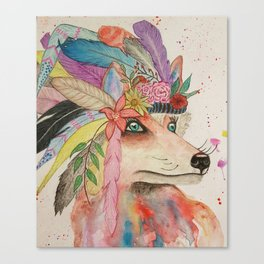 Foxy Feathers Canvas Print